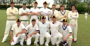 Team photo from match vs Long Compton, May 2015