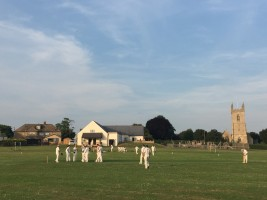 a wicket for Dan Hartley v Far from the MCC @  Islip, Tue 20th Jun 2017
